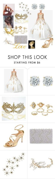 """""""Masquerade Ball"""" by srpotas on Polyvore featuring Dancing Queen, Masquerade, Charlotte Russe, Casadei, Nina, Global Views, Oliver Gal Artist Co. and masqueradeball"""