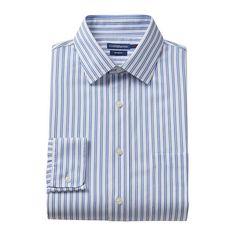 Men's Croft & Barrow® Slim-Fit No-Iron Dress Shirt, Size: 17 36/37, White