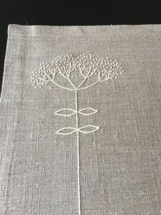 426ee2de36ff9 Linen Placemats with hand embroidered in ivory. The placemats measure cm)  and made from grey linen fabric. Set of 6 Natural color