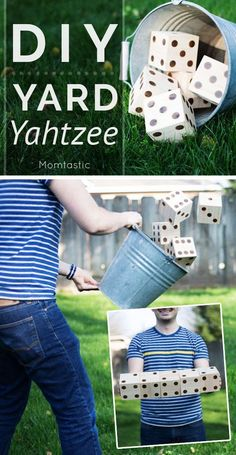 Yard Yahtzee would make a wonderful wedding reception game. Learn how to make your own here. #DIY