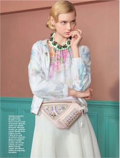 Shourouk Narcis XL necklace featured in D la Repubblica Italy