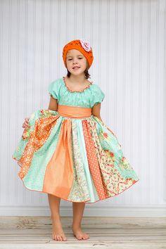Tropical Punch Peasant Dress -