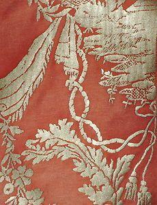 Pomegranate /& Rose Vine Richard Thibaut English Chintz Wallpaper $1 SAMPLE