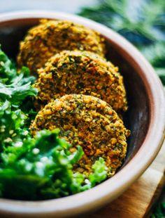 Winter Kale Falafel   Well and Full   #vegan #falafel #recipe