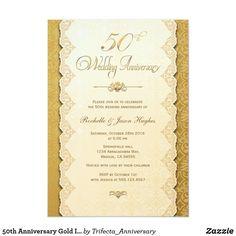 50th Anniversary Gold Invitation 50th Wedding Anniversary Invitations, Addressing Wedding Invitations, Wedding Invitations Online, Gold Invitations, Vintage Wedding Invitations, Wedding Invitation Cards, Anniversary Ideas, Invites, Anniversary Decorations