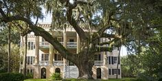 """A Storied South Carolina """"Castle"""" Brimming With Low-Country Charm -The 1861 house in Beaufort, South Carolina, was designed as a copy of an English manor. Southern Mansions, Southern Homes, Southern Charm, Country Charm, Southern Belle, Southern Plantations, Low Country Homes, Southern Comfort, Simply Southern"""
