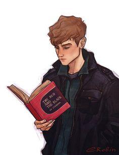 Адам Пэрриш со своей любимой книгой, от enotrobin