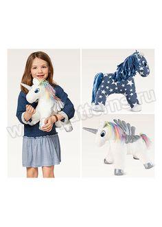 Выкройка Burda (Бурда) 6495 — Мягкие игрушки: Лошадь и Единорог   Купить с доставкой по России в интернет-магазине patterns.ru
