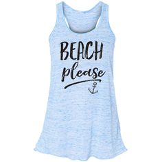 Beach Please Flowy Tank Top Mermaid Shirt Mermaid Summer Tank Beach... ($23) ❤ liked on Polyvore featuring tops, blue, t-shirts, women's clothing, summer shirts, summer tops, striped shirt, blue tank top and racerback tank top