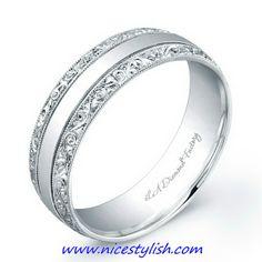Fantastic White Gold Wedding Bands for Men-new designs-2013
