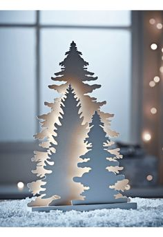 NEW Lit Tree Silhouettes - Christmas
