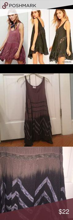 Free people tunic Never worn. Small. Brown/grey/ black Free People Dresses Mini