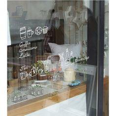 Mano Cafe di disegno grafico vinile adesivo di verryberrysticker