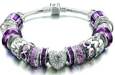 Purple & Silver Pandora Bracelet I want! Pandora Beads, Pandora Bracelet Charms, Pandora Jewelry, Pandora Rings, Charm Bracelets, Pandora Collection, Purple Jewelry, Purple Love, Cute Jewelry