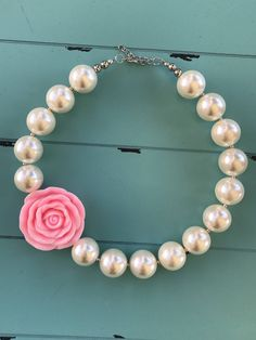 A personal favorite from my Etsy shop https://www.etsy.com/listing/550065505/chunky-bead-necklace-bubblegum-bead