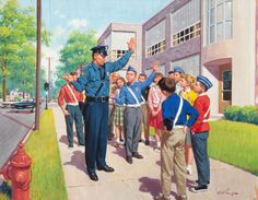 ARTHUR SARON SARNOFF (American, 1912-2000). Safety Patrol.