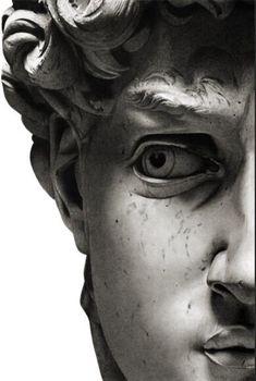 Black & White Half Face Sculpture Art Duo