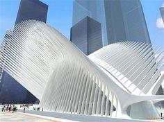 WTC Transportation Hub, Manhattan by Santiago Calatrava #Architecture #WTC_TransitHub #Santiago_Calatrava