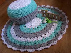 Dywan, dywanik ze sznurka bawełnianego, handmade , szydełkowy Chorzów - image 1