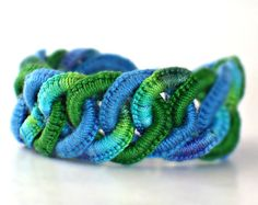 Crochet Bracelet Fiber Bracelet  Faux by Nothingbutstring on Etsy, $40.00