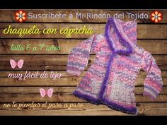 (60) Video chaquetón niña de 6 a 7 años a crochet - Crochet video step by step coat for a girl - YouTube