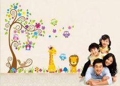 Jungle Zoo: Owl sur l'arbre avec la girafe et le lion parmi les enfants pour les enfants