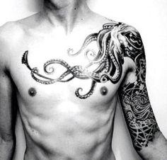 tatuajes-de-pulpo-pecho