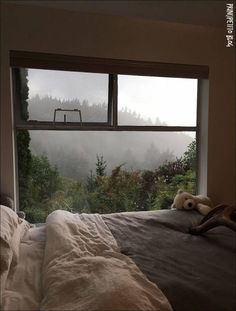 Incredible view from Vancouver house Design Room Ideas Bedroom, Bedroom Inspo, Bedroom Decor, Bedroom Inspiration, Comfy Bedroom, Bedroom Storage, Dream Rooms, Dream Bedroom, Bedroom Red