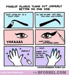 me LOL drawing art funny girls cute fashion Make-up lulz gpoy cartoon makeup comic nail polish nails nail art eyebrows comics eyeliner Make up cat eye winged eyeliner cat eyes SO ME actual gpoy yaaaaas yaaaas yaaas yaas