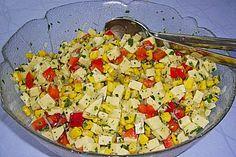 Bunter Käsesalat mit Butterkäse