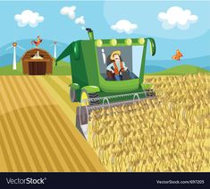 Farm vector image on VectorStock Harvest Activities, Farm Vector, Farm Pictures, School Frame, Farm Cake, First Fathers Day Gifts, Nissan Xterra, Colouring Pics, School Posters