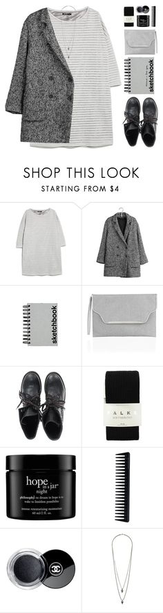 """""""SKETCHBOOK ♥"""" by emmas-fashion-diary ❤ liked on Polyvore featuring MANGO, IKKS, Paperchase, Monsoon, Ash, Falke, philosophy, GHD, Chanel and Wallis"""