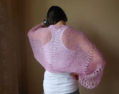 Encogiéndose de hombros punto Bolero verano encogiéndose de hombros encaje rosa