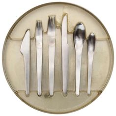 Stainless Flatware by Arne Jacobsen | From a unique collection of antique and modern tableware at https://www.1stdibs.com/furniture/dining-entertaining/tableware/