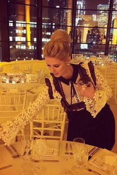 Nicky Hilton wearing Self-Portrait Adeline Dress