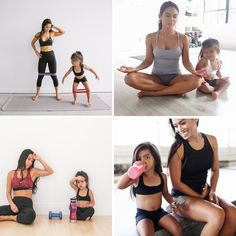 A mom is the best trainer for her kids! #Mom #Trainer #Baby #Daughter #Child #Fitness #Workout #Motherhood #Momlife #Fitmom #Momsfitness #Parenting