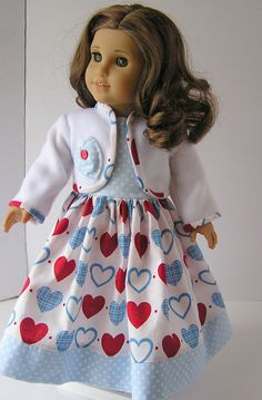 Valentines Day Outfit for 18 Inch Doll