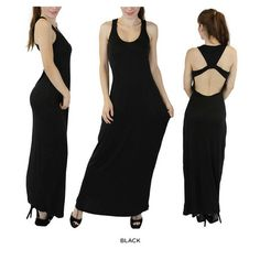 Sassy Serena Y-Back Maxi-Dress - Assorted Colors at Savings off Retail! New Outfits, Sassy, Retail, Formal Dresses, Reading, Colors, Clothes, Fashion, Dresses For Formal