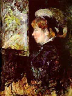 The Visitor, 1880. Mary Cassatt