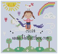 The Floss Box | Unicorn Spring Ride Cross Stitch