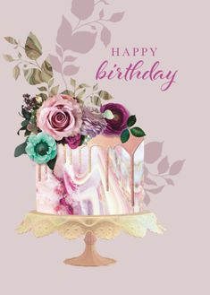 birthday gift ideas for him Happy Birthday Floral, Birthday Wishes Flowers, Happy Birthday Art, Happy Birthday Wishes Cards, Birthday Blessings, Birthday Wishes Quotes, Happy Birthday Pictures, Happy B Day, York