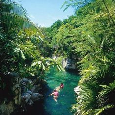 Xcaret, Mexico spent day here yesterday...beautiful swim in underground rivers and caves