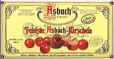 Asbach Brandy Cherries, have to ration myself to one per day in order to make a box last.