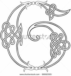 A Celtic Knot-work Capital Letter G Stylized Outline. Vector Version. by Theo Malings, via ShutterStock