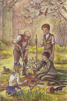 the secret garden illustrated by tasha tudor | The Secret Garden #Tasha Tudor #Illustration