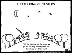 Cartoon Tester: What happens when Testers meet up???