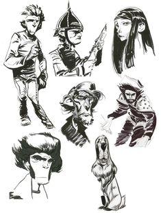 bocetos tinta by Enrique Fernandez