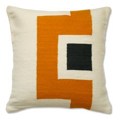 Jonathan Adler Butch Pillow Mustard And Grey in All Pillows And Throws