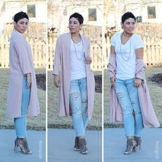 Collarless Duster Jacket - Mimi G Style