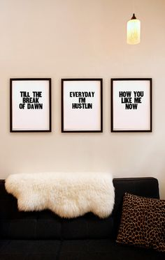 GOING TO DO THIS!!!!!  Fave song lyrics done simply (and pretty darn cool-ly).